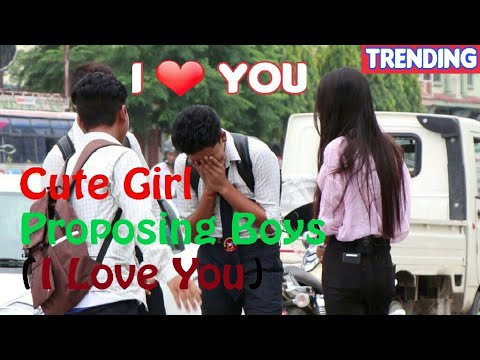 Cute Girl Proposing (I Love You) To Boys - Prank 2017 | LAUGH OUT LOUD NEPAL |