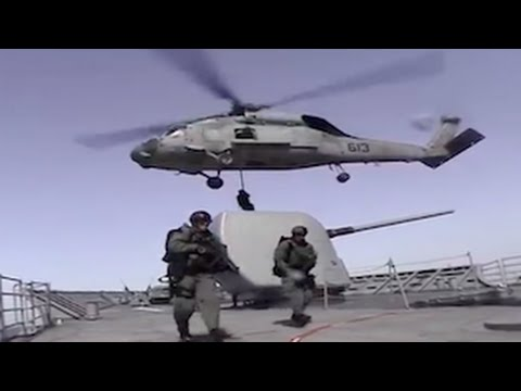 Intense Footage Of Soldiers On Water