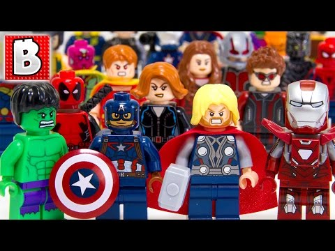 Every Lego Avengers Minifigure Ever Made!!! Ultimate Marvel Collection!