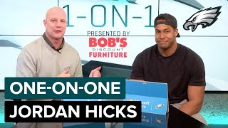 Jordan Hicks Talks About Making His Playoff Debut | Eagles One-On-One
