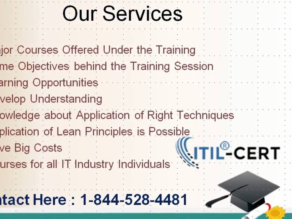 Itil Foundation Certification Training Online Course 1 844 528 4481