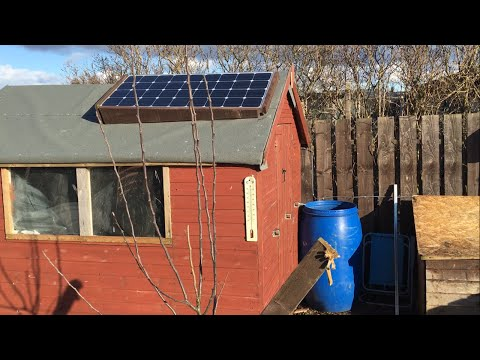 How to Install a 12 Volt Solar Panel on an Allotment Shed/Workshop
