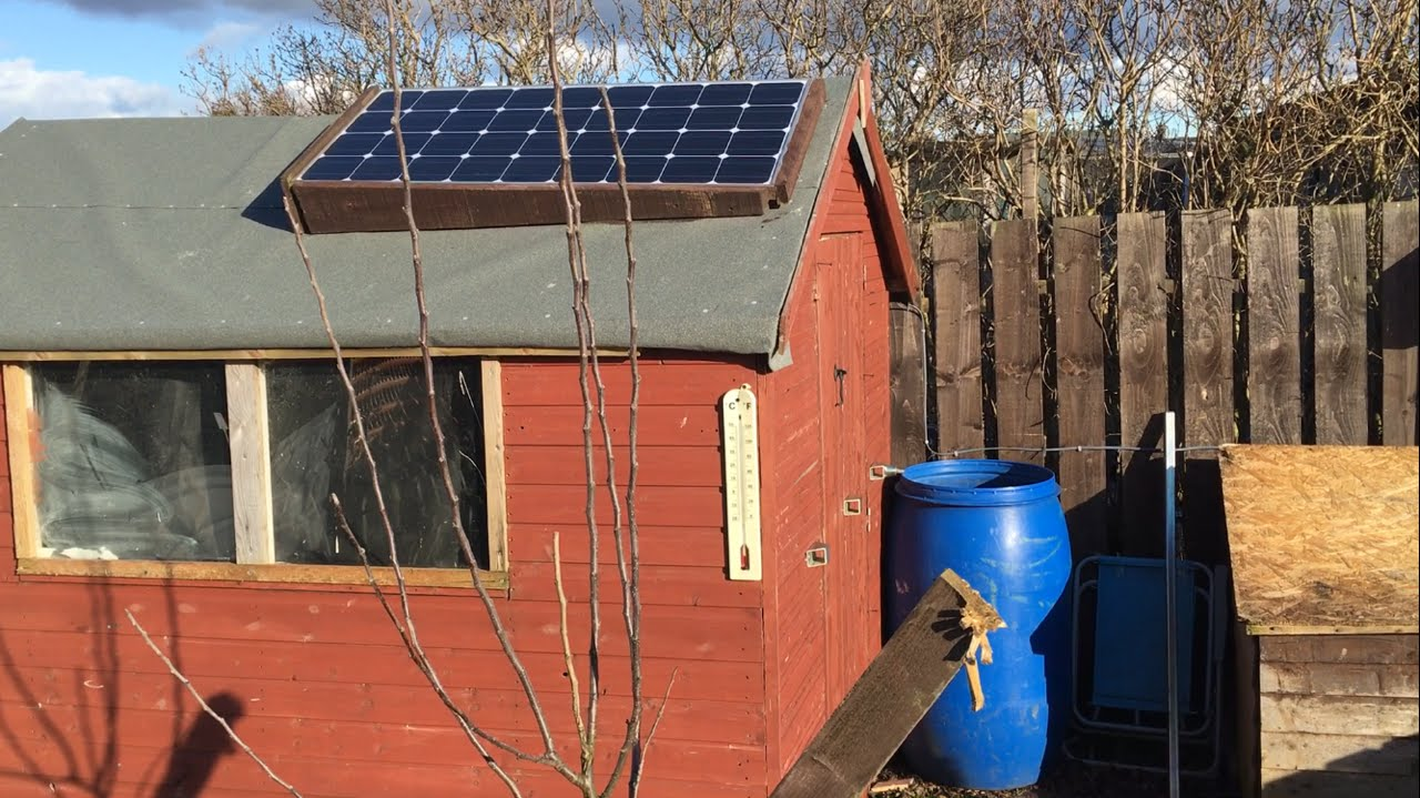 How To Install A 12 Volt Solar Panel On An Allotment Shed