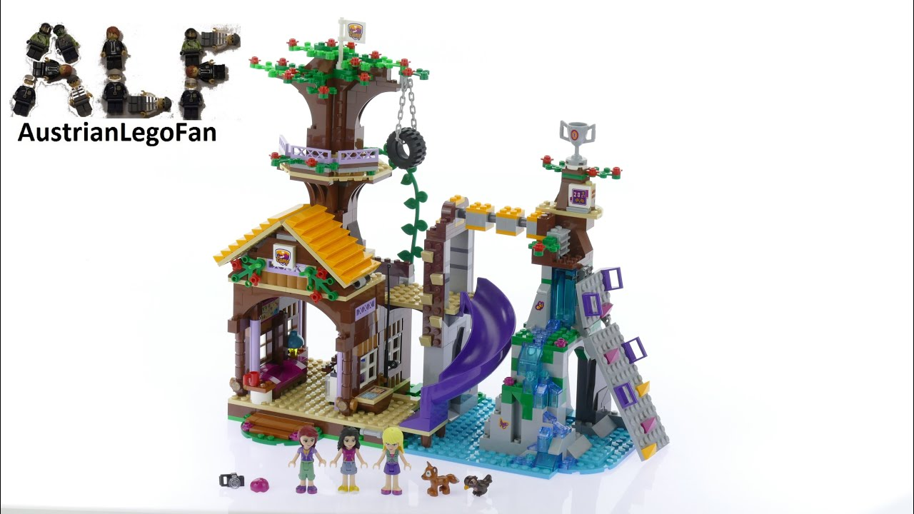 Lego Friends 41122 Adventure Camp Tree House - Lego Speed Build ...