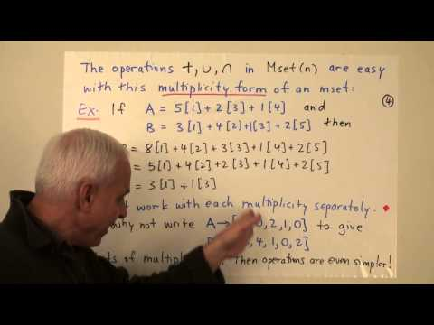 MathFoundations157: The algebra of natural number multisets