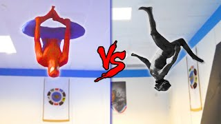 SPIDERMAN vs BLACK PANTHER in Real Life   Flips & Kicks
