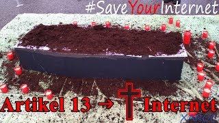 Beerdigung des Internets ✝ Demo / Kunstaktion gg. Artikel 13 München 24.11.2018 #SaveYourInternet