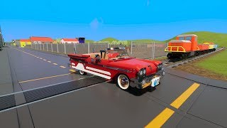 MASSIVE LEGO Trucks, Cars & SUV's vs. Train - Brick Rigs Gameplay - Lego Toy Destruction