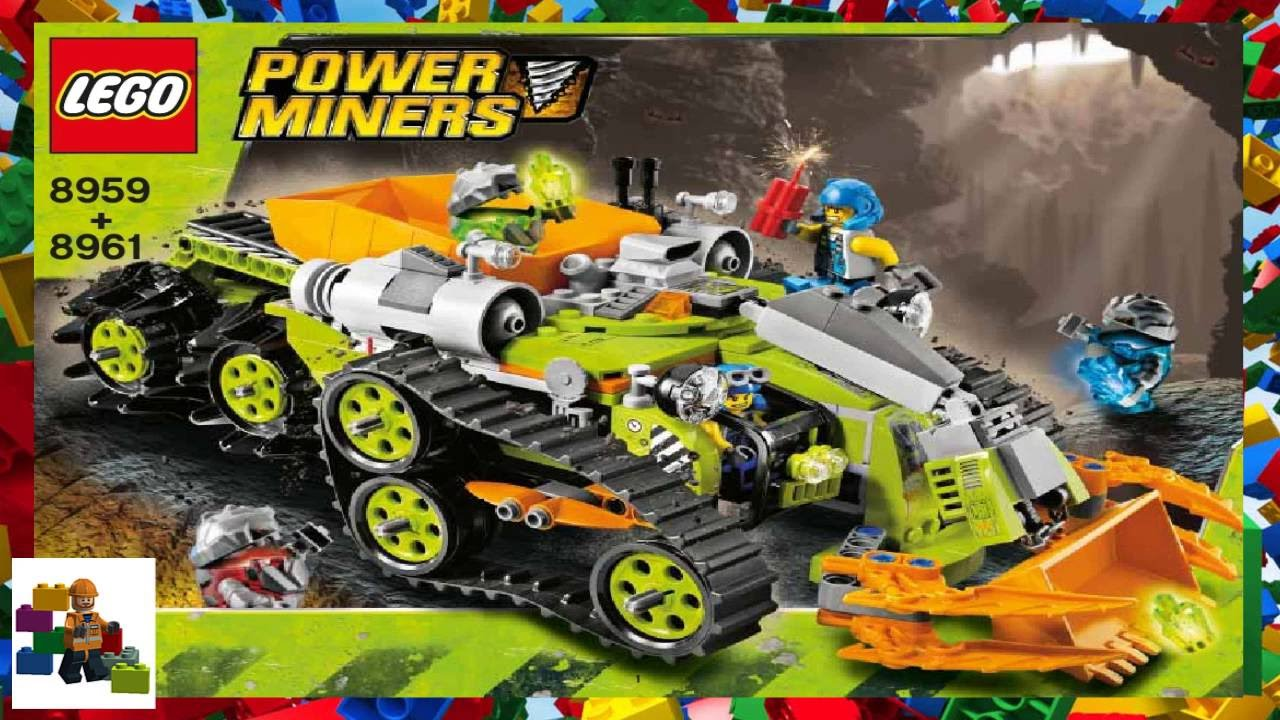LEGO instructions - Power Miners - 8959 + 8961 - Crystal ...