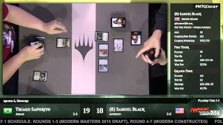 2015 Magic World Championship Round 6 (Modern): Thiago Saporito vs. Samuel Black