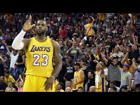 detailed look af49a 962cd It s SHOWTIME - Lakers Fans Celebrate Lebron James  Move To L.A.