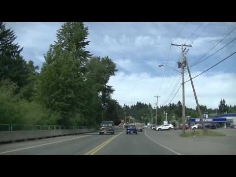 Driving in Courtenay City - British Columbia (BC) Canada - Comox Valley
