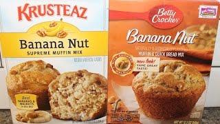 Krusteaz Banana Nut Muffin Mix Vs Betty Crocker Banana Nut Muffin Mix – Blind Taste Test