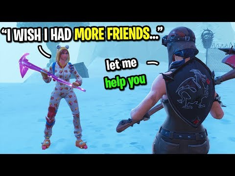 I met the NICEST kid in Fortnite random duos and CARRIED him to a win...