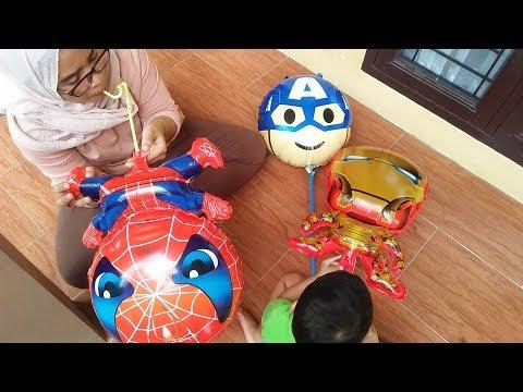 tiup-balon-superhero-avengers-captain-america,-ironman,-dan-spiderman