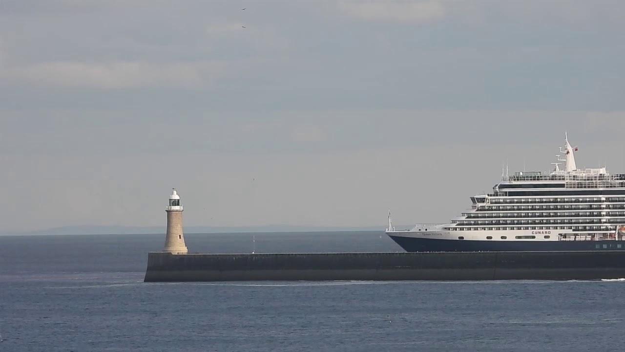 Queen Victoria Departs the Tyne