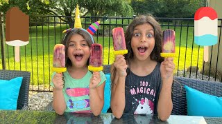 How to make Rainbow Popsicles DIY for kids!!