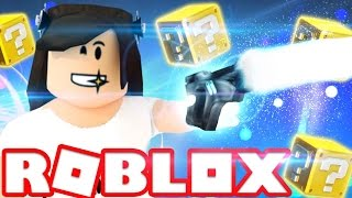 ROBLOX LUCKY BLOCKS! | AWESOME OP GUNS?? | Let's Play Lucky Blocks in Roblox