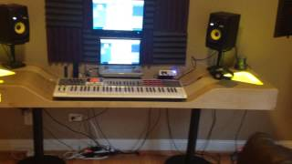 How to build an at home recording studio.... the best studio desk!!