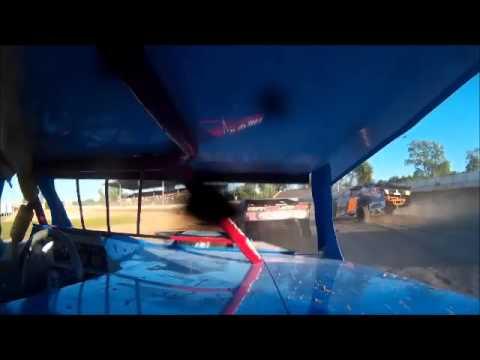 Dennis Miesler_Seymour Speedway_7-19-15_Heat Race_IMCA SPMod Seymour, WI