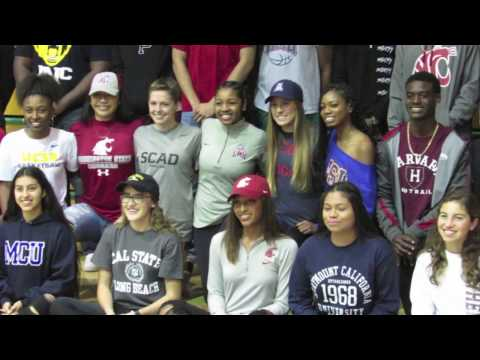 Long Beach Poly High School National Letter of Intent Day 2017