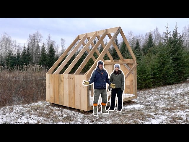 Installing ROOF RAFTERS on Our OFF-GRID Property Composting OutHouse & the BEAVERS are BACK!!!!