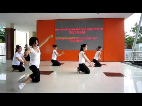 Lớp hướng dẫn viên aerobic 1/3 năm 2012 - trung tâm Đất Nam - nhóm 2