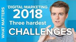 Three hardest Challenges of Digital Marketing in 2018!