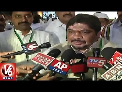 Telangana Congress Leaders At Indian National Congress Plenary Session 2018 | V6 News