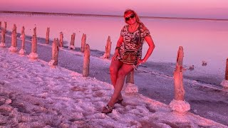 Очень крутой день.❤ красивое море, розовое озеро и уютный ,вкусный вечер