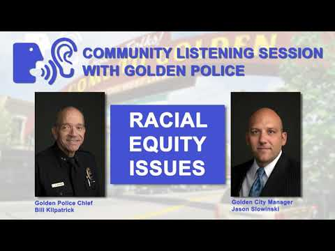 Community Listening Session with the Golden Police - Oct. 29