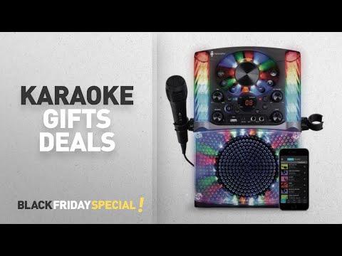Walmart Top Black Friday Karaoke Gifts: Singing Machine SML625BTBK Bluetooth CD+G Karaoke System