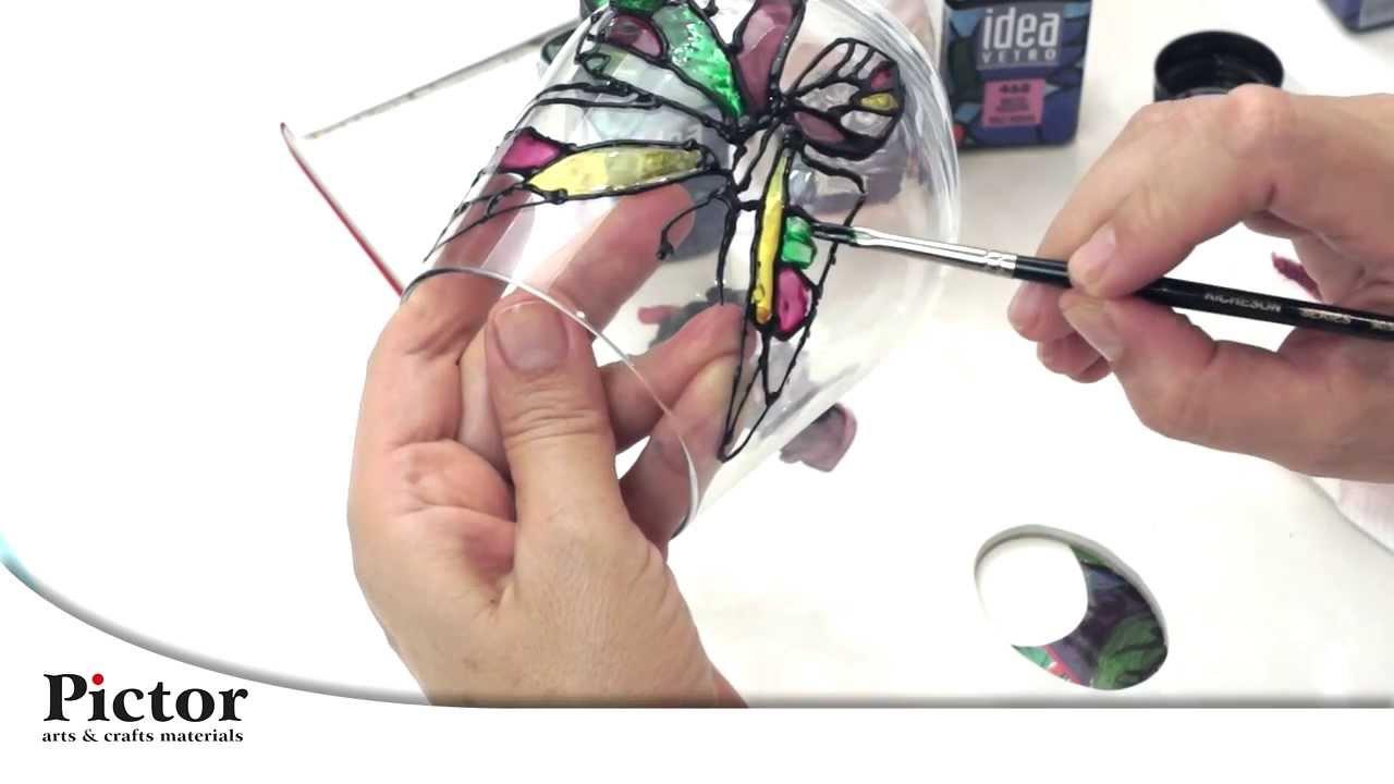 Cum se picteaza pe sticla