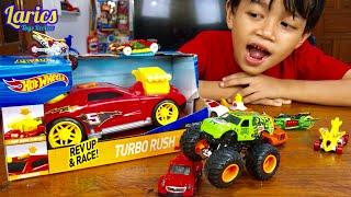 Hot Wheels Turbo Rush Raksasa VS Monster Jam Terbaru 😱😱😱
