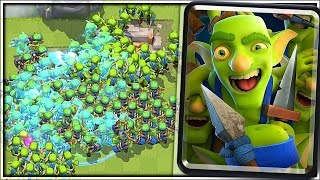 GOBLIN GANG SWARM - Clash Royale New Card Gameplay