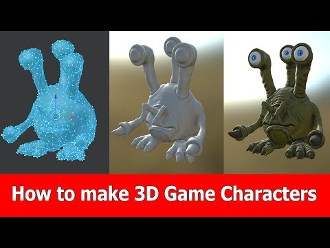 How to make 3d game characters: Blender, ZBrush & Substance Painter