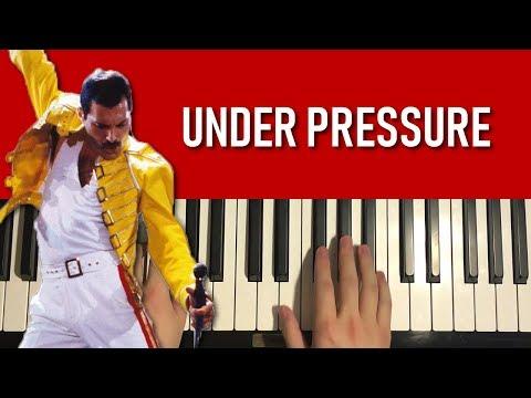 Queen - Under Pressure (Piano Tutorial Lesson)
