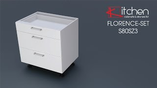 [FLORENCE-SET] Assembly video for 800mm 3 Drawer base unit