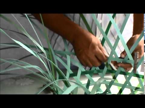Como fazer cesto de furo com fita pet youtube for Como criar caracoles de jardin