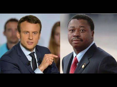 Emmanuel Macron interpellé à Washington DC sur la crise au Togo. Voici sa reponse directe