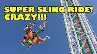 CRAZY Big Foot Super Sling Shot Ride Branson