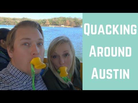 AUSTIN, TX IS FULL OF QUACKS! || LAND & WATER BOAT TOUR || FULL TIME RV LIVING