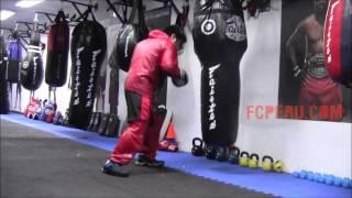 Clases de Boxeo - Entrenando en el Super Angle Bag