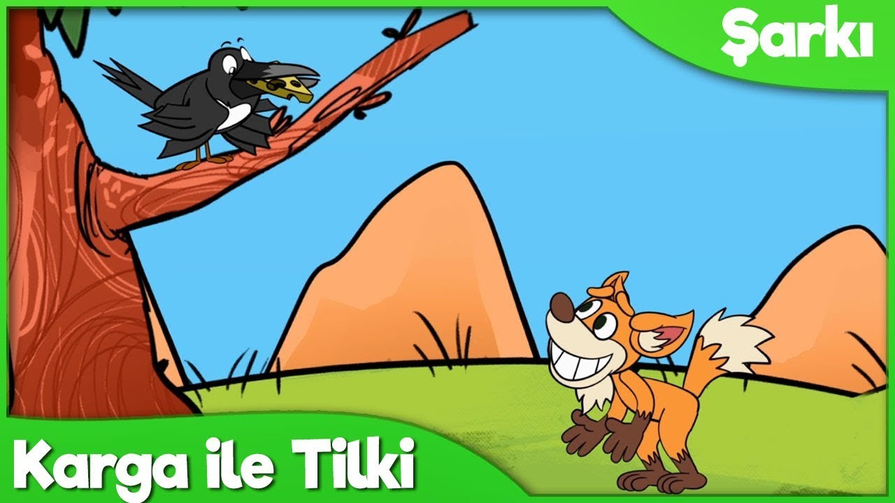 Karga ile Tilki Çocuk Şarkısı   Okul Öncesi Çocuk ve Bebek Şarkıları