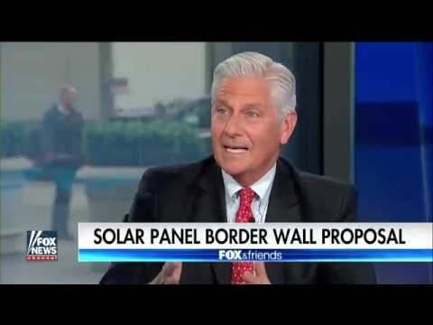 Trump pitches solar paneled border wall to GOP leaders