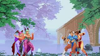 Morrigan & Lilith vs. Chun-li & Mai