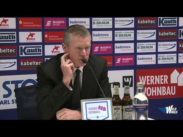 Pressekonferenz: Schwenninger Wild Wings-EHC Red Bull München