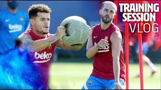 INSIDE A BARÇA TRAINING SESSION | FC Barcelona VLOG