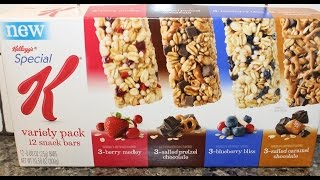 Special K Snack Bars Berry, Salted Caramel Chocolate, Blueberry & Salted Pretzel Review