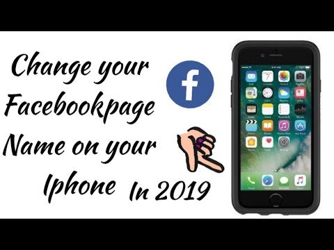 How to change fb page category on iphone